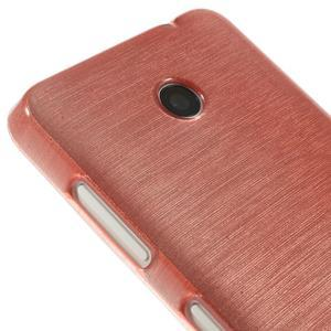 Gélové Kartáčové puzdro na Nokia Lumia 630- světlerůžové - 4