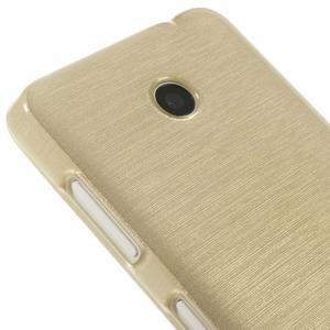 Gélové Kartáčové puzdro na Nokia Lumia 630- zlatavé - 4