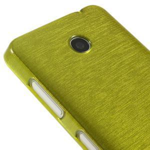 Gélové Kartáčové puzdro na Nokia Lumia 630- zelené - 4