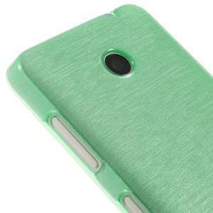 Gélové Kartáčové puzdro na Nokia Lumia 630- zelenomodré - 4