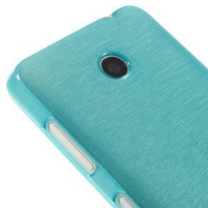 Gélové Kartáčové puzdro na Nokia Lumia 630- modré - 4