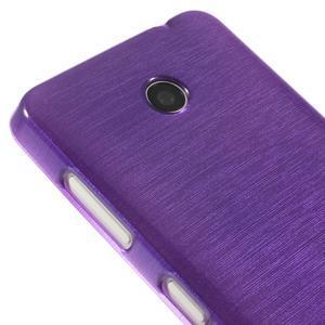 Gélové Kartáčové puzdro na Nokia Lumia 630- fialové - 4