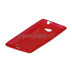 Gélové S-line puzdro pre HTC Windows phone 8X- červené - 4