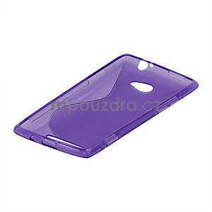 Gélové S-line puzdro pre HTC Windows phone 8X- fialové - 4