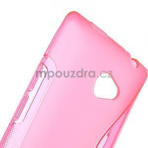 Gélové S-line puzdro pre HTC Windows phone 8X- ružové - 4