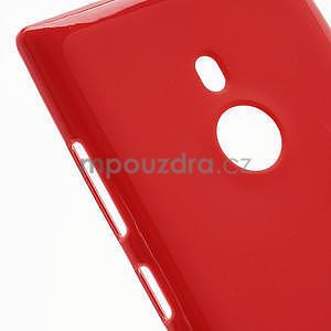Gélové lesklé puzdro pre Nokia Lumia 925- červené - 4