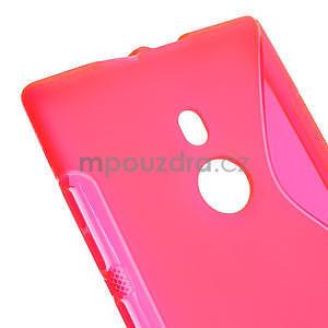 Gélové S-liné puzdro pre Nokia Lumia 925- ružové - 4