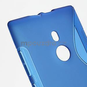 Gélové S-liné puzdro pre Nokia Lumia 925- modré - 4