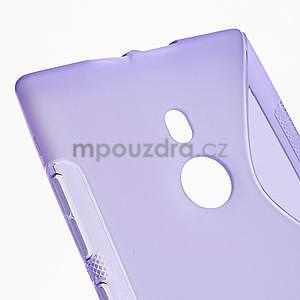 Gélové S-liné puzdro pre Nokia Lumia 925- fialové - 4