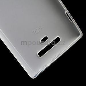 Gélové matné puzdro pre Nokia Lumia 925- biele - 4