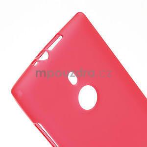Gélové matné puzdro pre Nokia Lumia 925- červené - 4
