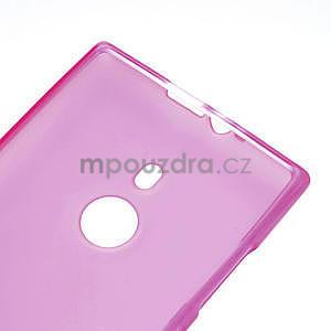Gélové matné puzdro pre Nokia Lumia 925- ružové - 4