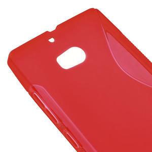 Gélové S-line puzdro na Nokia Lumia 930- červené - 4