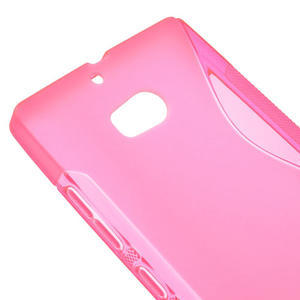 Gélové S-line puzdro na Nokia Lumia 930- růžové - 4
