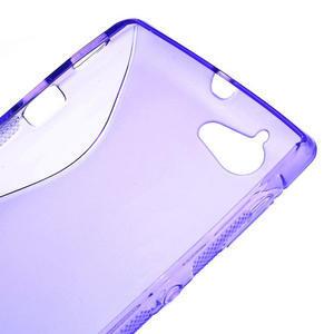 Gélové S-line puzdro na Sony Xperia L C2105- fialové - 4