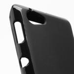 Gélové matné puzdro na Sony Xperia L C2105- čierné - 4/5