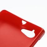 Gélové matné puzdro na Sony Xperia L C2105- červené - 4/5