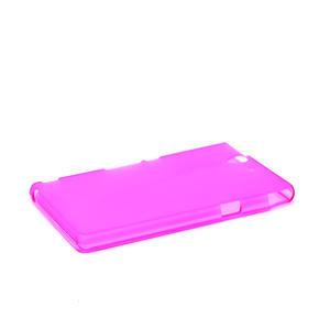 Gélové puzdro na Sony Xperia Z L36i C6603- růžové - 4