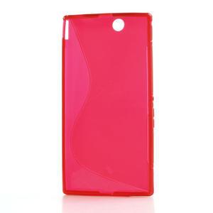 Gélové S-line puzdro pre Sony Xperia Z ultra- červené - 4