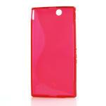 Gélové S-line puzdro pre Sony Xperia Z ultra- červené - 4/4