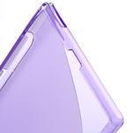 Gélové S-line puzdro pre Sony Xperia Z ultra- fialové - 4/5