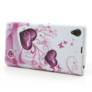 Gélové puzdro pre Sony Xperia Z1 C6903 L39- srdce - 4