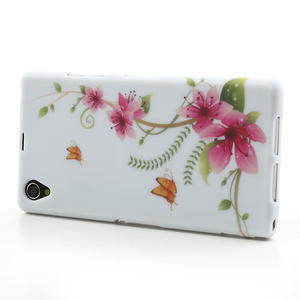 Gelové pouzdro na Sony Xperia Z1 C6903 L39- květy a motýl - 4