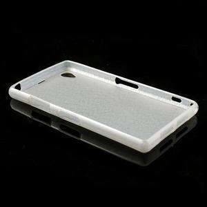 Kartáčované puzdro pre Sony Xperia Z1 C6903 L39- biele - 4