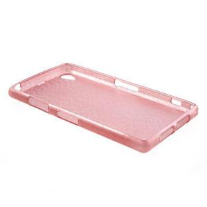 Kartáčované puzdro pre Sony Xperia Z1 C6903 L39- svetleružové - 4