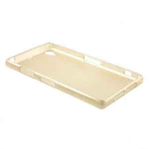 Kartáčované puzdro pre Sony Xperia Z1 C6903 L39- zlaté - 4