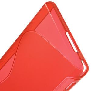 Gélové S-line puzdro na Sony Xperia M2 D2302- červené - 4