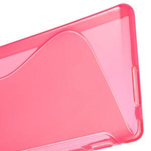 Gélové S-line puzdro na Sony Xperia M2 D2302- růžové - 4