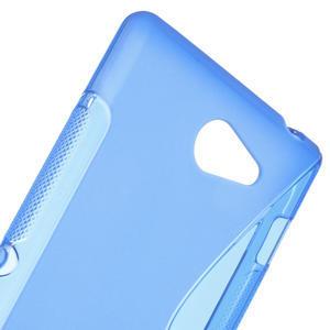 Gélové S-line puzdro pre Sony Xperia M2 D2302- modré - 4