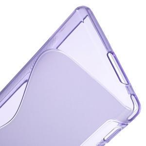 Gélové S-line puzdro na Sony Xperia M2 D2302- fialové - 4