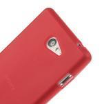 Gélové tenké puzdro pre Sony Xperia M2 D2302 - červené - 4/5