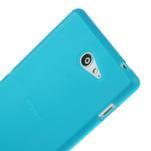 Gélové tenké puzdro na Sony Xperia M2 D2302 - svetlo modré - 4/5