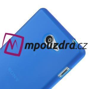 Gélové tenké puzdro na Sony Xperia M2 D2302 - modré - 4