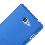 Gélové tenké puzdro na Sony Xperia M2 D2302 - modré - 4/5