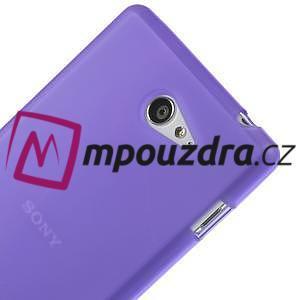Gélové tenké puzdro na Sony Xperia M2 D2302 - fialové - 4