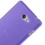 Gélové tenké puzdro na Sony Xperia M2 D2302 - fialové - 4/5