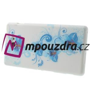 Gélové puzdro na Sony Xperia M2 D2302 - modrá lilie - 4