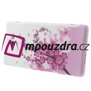 Gélové puzdro na Sony Xperia M2 D2302 - kvetoucí větvička - 4