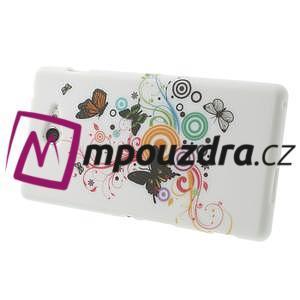 Gélové puzdro pre Sony Xperia M2 D2302 - farební motýľe - 4