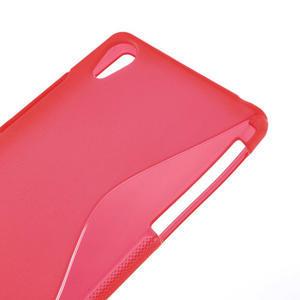 Gelové S-line pouzdro na Sony Xperia Z2 D6503- červené - 4