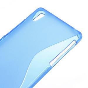 Gélové S-line puzdro pre Sony Xperia Z2 D6503- modré - 4
