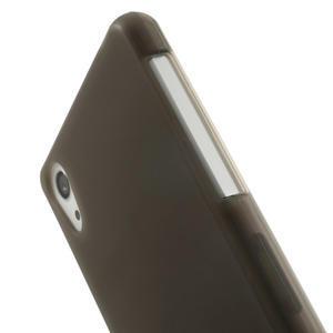 Gélové matné puzdro pre Sony Xperia Z2 D6503- sivé - 4