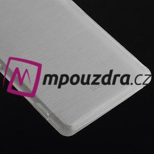Gelové kartáčové pouzdro na Sony Xperia Z3 D6603 - bílé - 4