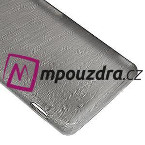 Gelové kartáčové pouzdro na Sony Xperia Z3 D6603 - šedé - 4