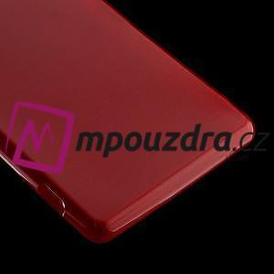 Gélové kartáčové puzdro pre Sony Xperia Z3 D6603 - červené - 4