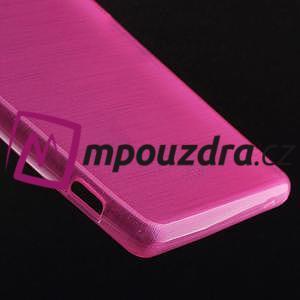 Gelové kartáčové pouzdro na Sony Xperia Z3 D6603 - růžové - 4